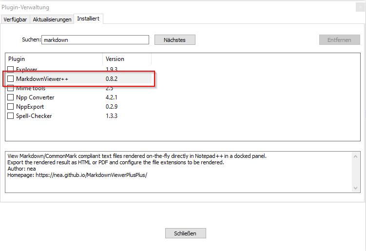 Notepad++ - Markdown