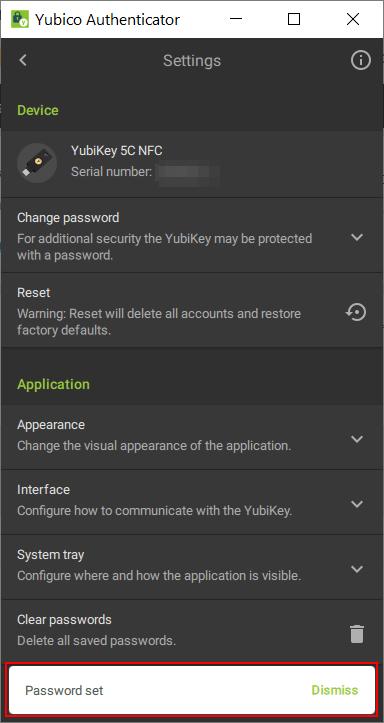 YubiKey - Passwort setzen