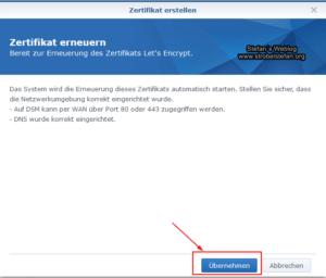 Let´s Encrypt Zertifikat erneuern