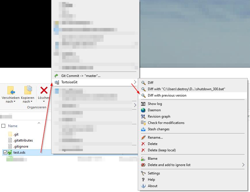 TortoiseGit - diff für xlsx-Dateien starten