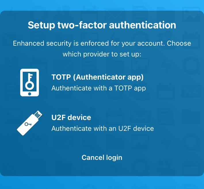 Nextcloud - Zwei-Faktor-Authentifizierung