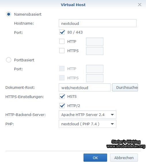 Web Station - Virtual Host