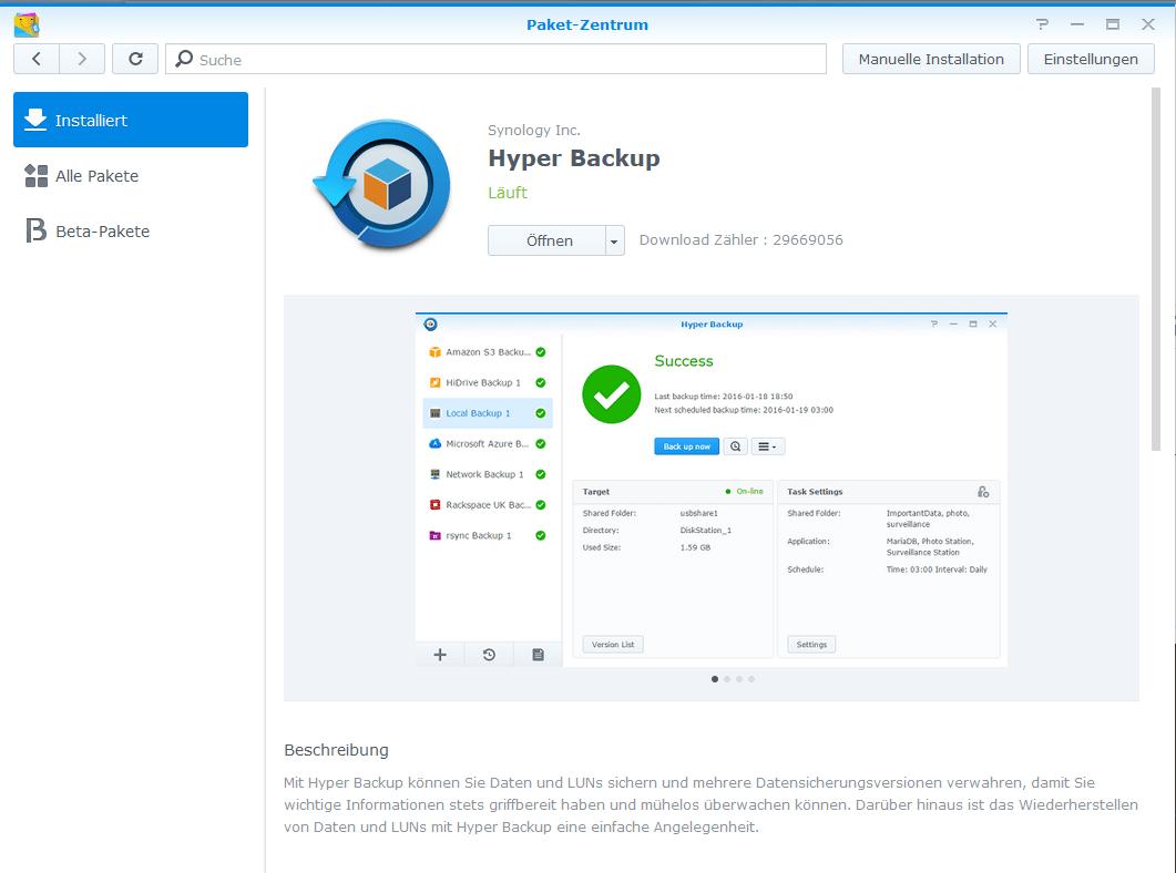 Synology - Hyper Backup