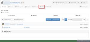 Gitea - Eingebautes Wiki